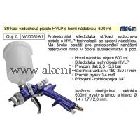 vzduchová stříkací pistole HVLP, horní nádobka 600 ml, Magg Profi WJ0081A1