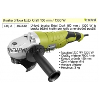 úhlová bruska, 150mm, 1300W, EXTOL Craft 403130