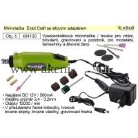 EXTOL Minivrtačka Extol Craft se síťovým adaptérem 404120