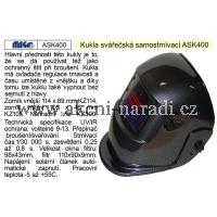 MAGG Kukla svářečská samostmívací ASK 400 ASK400