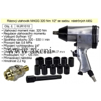 MAGG WJR1010 penumatický vzduchový rázový utahovák 320 Nm se sadou nástrčných klíčů