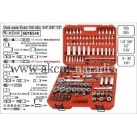 YATO Gola sada Extol Premium 155 dílů kombinovaná 1/4 3/8 1/2 8818340
