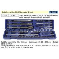 FESTA Sekáče a vrtáky SDS Plus sada 12 kusů 20950