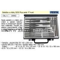 FESTA Sekáče a vrtáky SDS Plus sada 17 kusů 20952