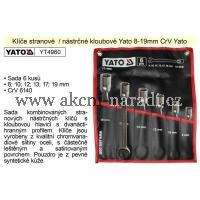 YATO Klíče stranové nástrčné kloubové sada 6 kusů 8-19mm CrV YT4960