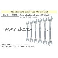 EXTOL Klíče stranové sada 6 kusů 6-17mm 6106B