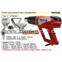 YATO Pistole horkovzdušná 2000W s příslušenstvím Yato YT82291