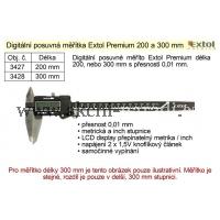EXTOL Posuvné měřítko digitální Extol Premium 200mm 3427, NEDOSTUPNÉ