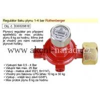 EXTOL Regulátor tlaku plynu 1-4bar vhodný pro plynové hořáky 032081E