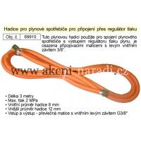EXTOL Hadice pro plynové hořáky délka 3m pro připojení přes regulátor tlaku plynu 69910