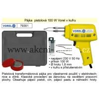 VOREL Pájka pistolová 100 W v kufru 79351