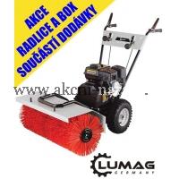LUMAG KM 800 motorový kartáč - ZDARMA radlice na sníh a box-koš na nečistoty