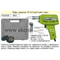 pájka pistolová 175 W, v kufru, Extol Craft 9923