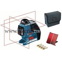 křížový čárový samonivelační laser BOSCH GLL 3-80 P Professional 0601063305