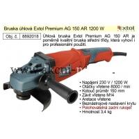 úhlová bruska 150mm, 1200W, EXTOL PREMIUM AG 150 AR 8892018