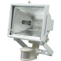 WOREL Reflektor halogenový závěsný s pohybovým čidlem 500W bílý obj.č. 82798