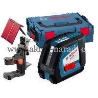 křížový samonivelační laser bosch GLL 2-50 Professional 0601063108, BM1 Držák, L-Boxx