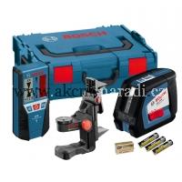 křížový samonivelační laser bosch GLL 2-50 Professional 0601063109, univerzání držák BM 1, přijímač LR 2, L-Boxx