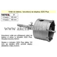 YATO Vrtací korunka 80mm SDS plus YATO YT-4403, YT4403