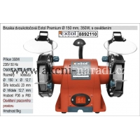bruska stolní dvoukotoučová 350W, EXTOL PREMIUM 8892110