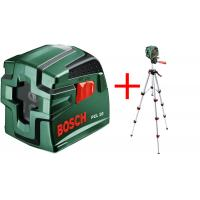 BOSCH PCL 10 SET, křížový laser, samonivelační, 10m, STATIV, 0603008121