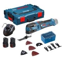 Aku Multifunkční nástroj, oscilační bruska, Multi-Cutter, 2x 2Ah bterie Bosch GOP 10,8 V-LI Professional 0.601.858.00U