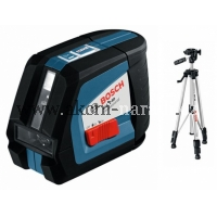 křížový samonivelační laser bosch GLL 2-50 Professional a stativ BT 150 0601063105
