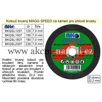 MAGG 150mm Kotouč brusný na kámen a litinu MAGG SPEED 150mm BKQSL1507