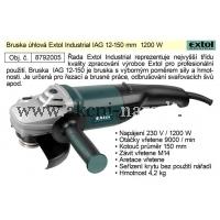 úhlová bruska 150mm, 1200W, EXTOL INDUSTRIAL IAG 12-150 8792005, MA8792005