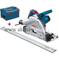 ponorná pila set s lištou, bosch GKT 55 GCE Professional 0601675002, L-boxx