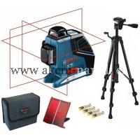 křížový čárový samonivelační laser, BOSCH GLL 3-80 P Professional 0601063306, Stativ BT150